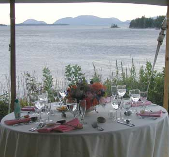 View of Table Setting