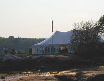 Tent on Wharf From Beach Vantage